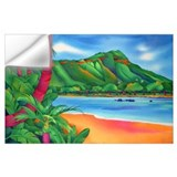 Beach painting Wall Decals