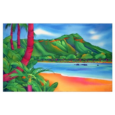 Diamond Head, Oahu Poster