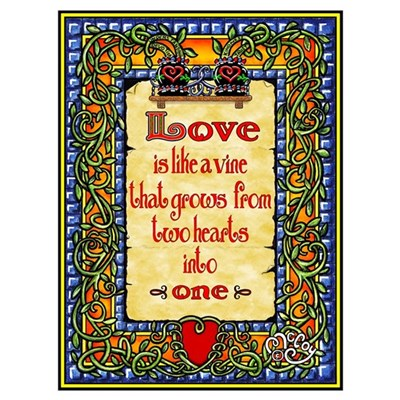 Love Is Like A Vine ... Canvas Art