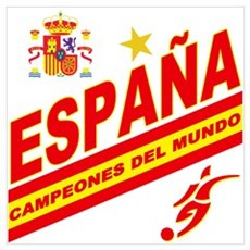 Spain World cup champions Canvas Art