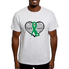 Liver Disease Heart Ribbon T-Shirt