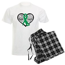 Liver Disease Heart Ribbon Pajamas