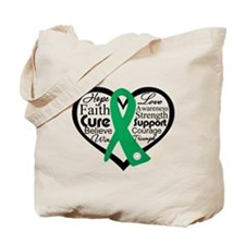 Liver Disease Heart Ribbon Tote Bag