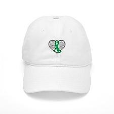 Liver Disease Heart Ribbon Cap