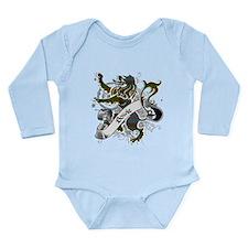 Bowie Tartan Lion Long Sleeve Infant Bodysuit