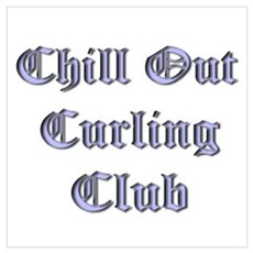 Chill Out Curling Club Canvas Art