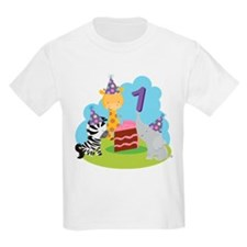 1st Birthday Zoo Animals T-Shirt