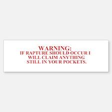 Rapture Bumper Bumper Bumper Sticker