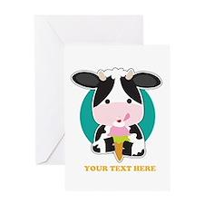 Cow Ice Cream Greeting Card