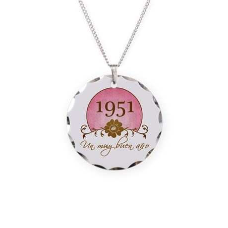 1951 Spanish Year Necklace Circle Charm