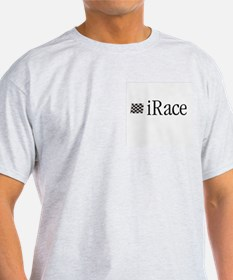 iRace Blue-Grey Race Driver Ash Grey T-Shirt