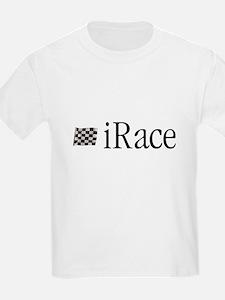 iRace Blue-Grey Race Driver Kids T-Shirt