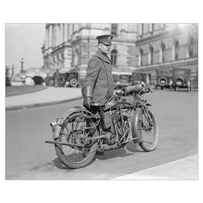 Motorcycle Police Officer, 1922 Framed Print
