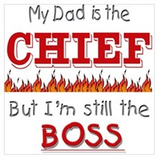Dad is CHIEF Framed Print