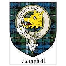 Campbell Clan Crest Tartan Poster