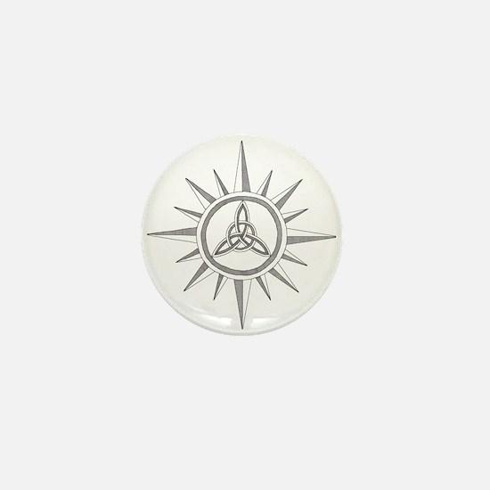 Triquetra Compass Rose Mini Button