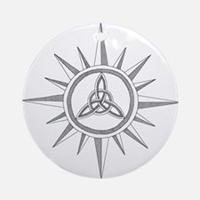 Triquetra Compass Rose Ornament (Round)
