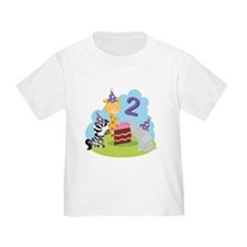 2nd Birthday Zoo Animals T