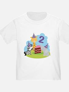 2nd Birthday Zoo Animals T