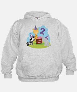 2nd Birthday Zoo Animals Hoodie