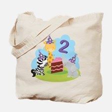2nd Birthday Zoo Animals Tote Bag