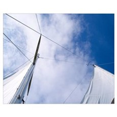 Rigging and Clouds Poster