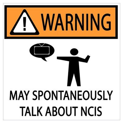 Spontaneously Talk NCIS Framed Print