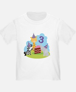 3rd Birthday Zoo Animals T