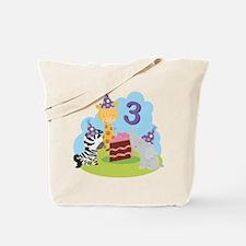 3rd Birthday Zoo Animals Tote Bag