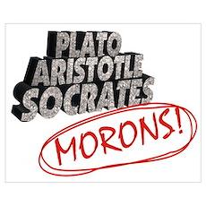 Plato, Aristotle, Socrates, Poster