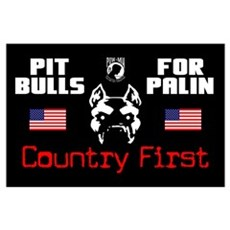 """""""Pit Bulls For Palin"""" Poster"""