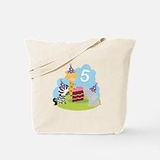 5th Birthday Zoo Animals Tote Bag