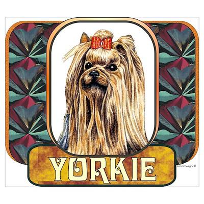 Yorkshire Terrier Designer 2 Poster