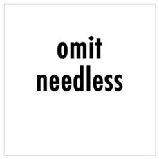 Omit needless Framed Print