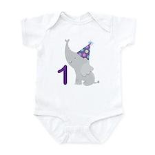 1st Birthday Elephant Infant Bodysuit