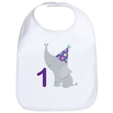 1st Birthday Elephant Bib
