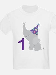 1st Birthday Elephant T-Shirt