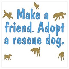 Adopt a Rescue Poster