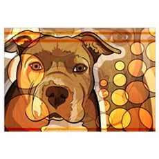 Abstract Dog Print Framed Print