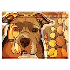 Abstract Dog Print Poster