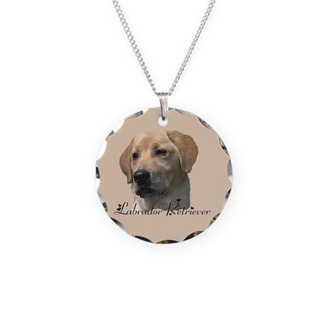 Labrador Retriever Necklace Circle Charm