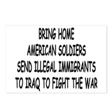 SEND ILLEGAL IMMIGRANTS TO IR Postcards (Package o
