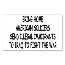 SEND ILLEGAL IMMIGRANTS TO IR Sticker (Rectangular