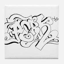 Hang Loose Bubble Graffiti Tile Coaster