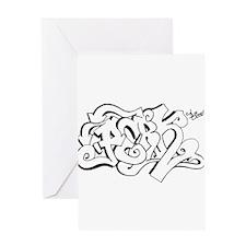 Skate Logo Greeting Card