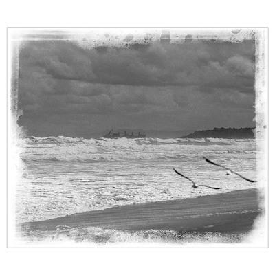Black & White Sea Poster