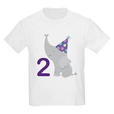 2nd Birthday Elephant T-Shirt