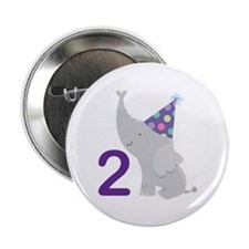 "2nd Birthday Elephant 2.25"" Button"