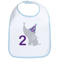2nd Birthday Elephant Bib