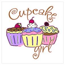 Cupcake Girl Poster